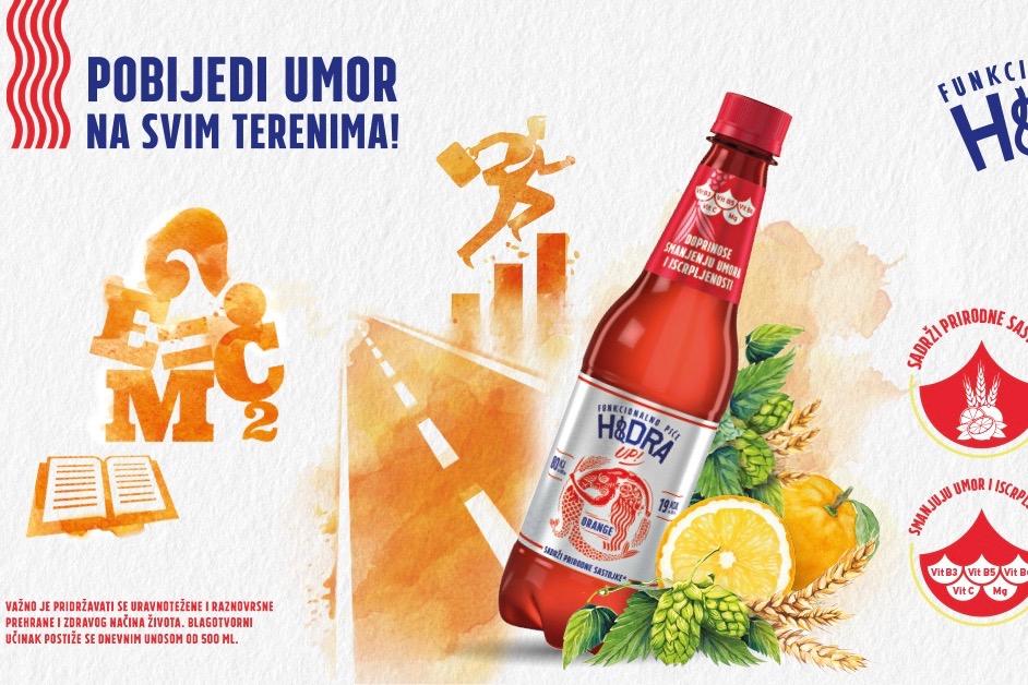 Zagrebačka pivovara lansirala novo funkcionalno piće Hidru UP